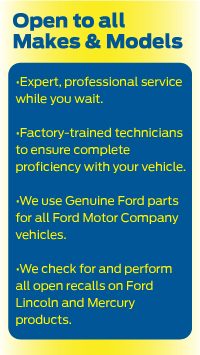 Stivers ford lincoln quick lane is iowas number one quick lane and is open to all vehicle makes and models and we provide expert professional service factory trained technicians we use genuine ford parts for all ford motor company vehicles and our technicians perform all open recalls on ford lincoln and mercury products for people in central iowa