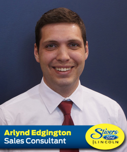 ARLYND EDGINGTON SALES CONSULTANT AT STIVERS FORD LINCOLN OF WAUKEE IOWA