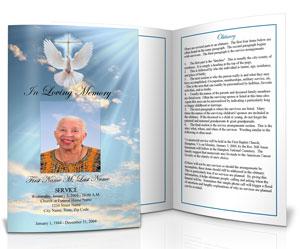 funeral program design ideas